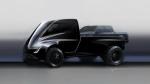 Tesla teases its short-nose pickup truck. (Tesla)