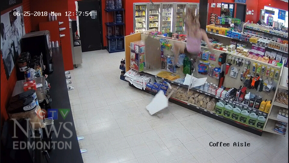 Very Scary Video Shows Woman Falling Through Ceiling Of Spruce