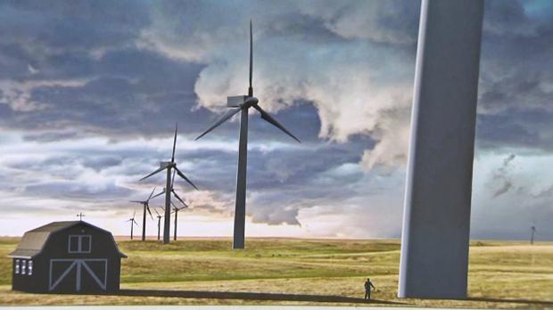 Sharp Hills Wind Farm - turbines drawing