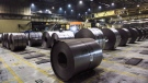 Rolls of coiled steel are seen at Canadian steel producer Dofasco in Hamilton Ont., Tuesday, March 13, 2018. (Tara Walton / THE CANADIAN PRESS)