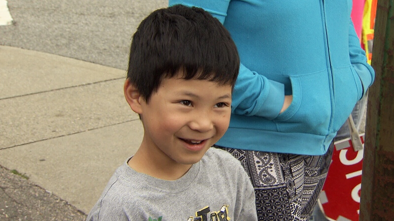 Tony Leong, 9, speaks to CTV Vancouver's Maria Weisgarber.