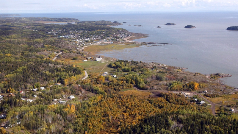 An aerial view of Fort Chipewyan, Alta., on the border of Wood Buffalo National Park is shown on Monday, Sept. 19, 2011. (THE CANADIAN PRESS/Jeff McIntosh)