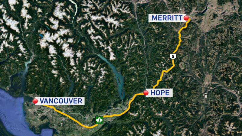 Searchers are combing an area between Merritt and Hope, B.C. for signs of the missing plane.