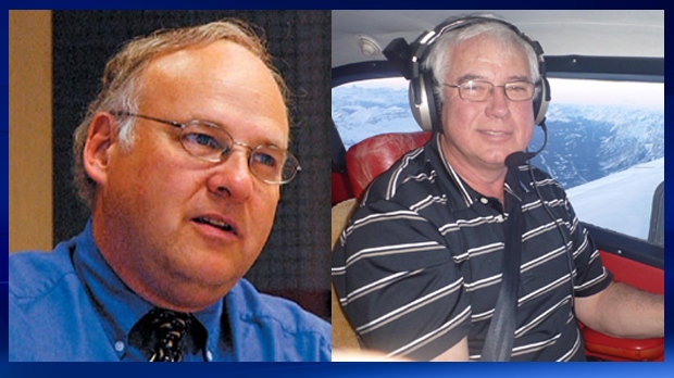 Ken Umbach and Terry Stewart were found dead on June 29 in British Columbia after the plane they were in landed in a mountainous region between Merritt and Hope (supplied)