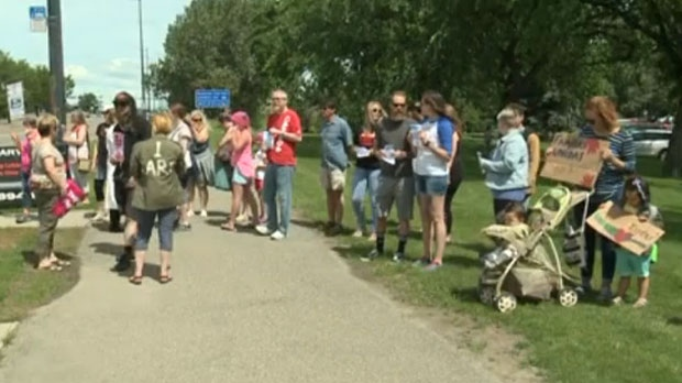 The City of Lethbridge's rally was somewhat smaller than most, but organizers say that fact doesn't dilute the message.
