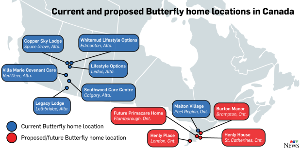 Butterfly Home Locations