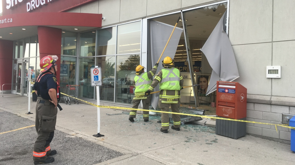 Fire fighters knocked out the remaining glass window so a tow truck was able to pull the vehicle out. June 30, 2018.