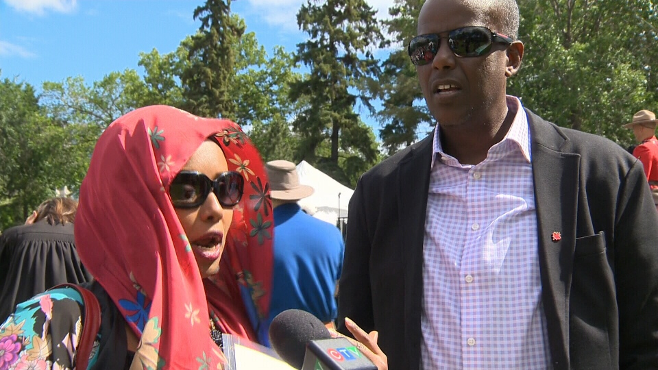The Youssoufs, from Djibouti, are part of 60 people who are now Canadian citizens.