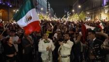 Andres Manuel Lopez Obrador's supporters celebrate