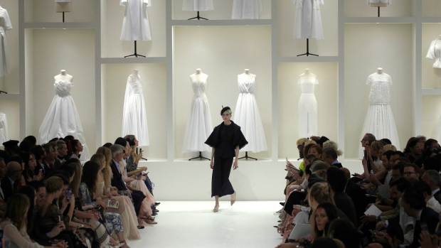 A model wears a creation for Dior Haute Couture Fall-Winter 2018 2019  fashion collection presented Monday 399102a70e184