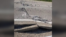 Sections of Highway 3 have buckled under the heat