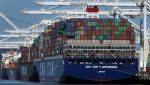 In this May 21, 2018, file photo container ships are unloaded at the Port of Oakland in Oakland, Calif. Barring a last-minute breakthrough, the Trump administration on Friday, July 6, will start imposing tariffs on $34 billion in Chinese imports. And China will promptly strike back with tariffs on an equal amount of U.S. exports. (AP Photo/Ben Margot)
