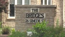 The Bridges shelter sign