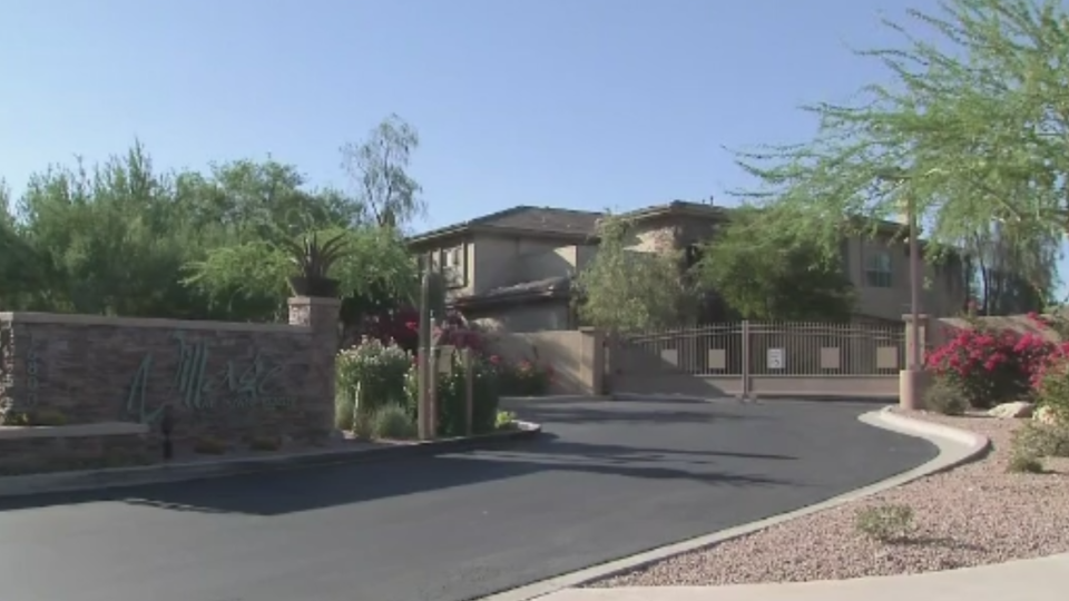 The senior woman is accused of shooting her son in the home they shared in Fountain Hills, Ariz.