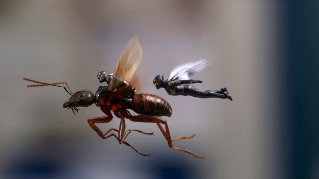"""This image released by Marvel Studios shows a scene from """"Ant-Man and the Wasp."""" (Disney/Marvel Studios via AP)"""