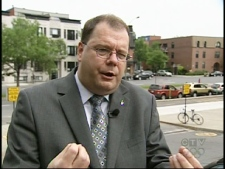 Soci�t� Saint-Jean-Baptiste President Mario Beaulieu speaks about the language spat with CTV Montreal on Monday, June 15, 2009.