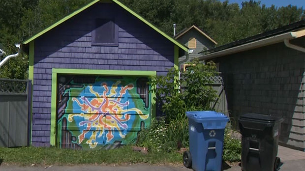 Garage Doors Winnipeg >> Back alleys in Sunnyside transformed into public art galleries | CTV News
