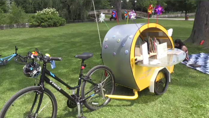 A book trailer is making reading more accessible and visible in the city of Kitchener.