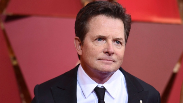 Michael J. Fox arrives at the Oscars at the Dolby Theatre in Los Angeles on Feb. 26, 2017. THE CANADIAN PRESS/AP, Invision - Richard Shotwell