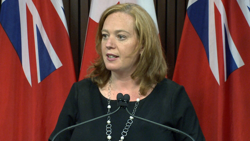 Ontario MPP Lisa MacLeod speaks to reporters, Friday, July 6, 2018.