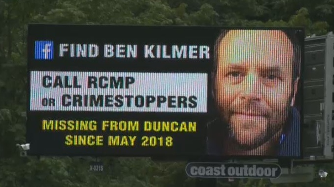 Ben Kilmer's family has put his picture on posters and billboard ads in hopes someone has seen him, but there have been no traces of the missing man. July 6, 2018. (CTV Vancouver Island)