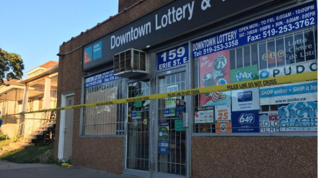 Aarmed robbery on Erie St. E.