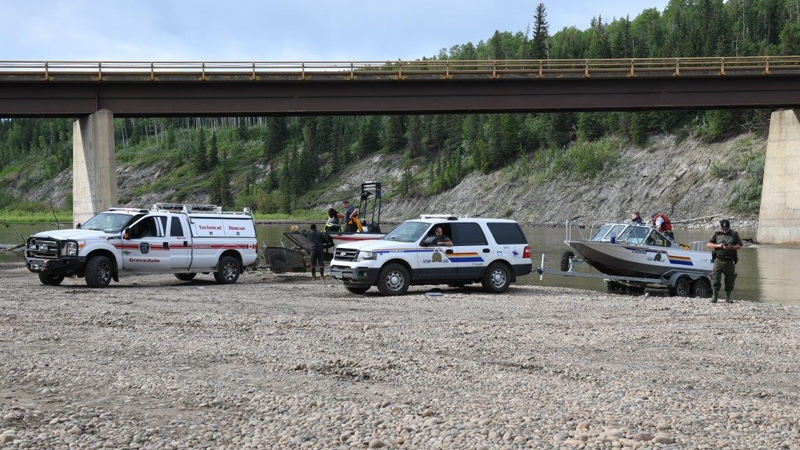 Grande Prairie RCMP searching for the two-year-old who went missing at the Wapiti River Friday, July 6, 2018. (William Vavrek)