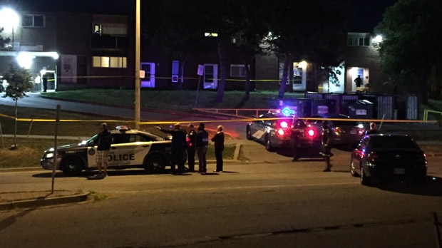 Police are investigating a deadly shooting in Toronto's Black Creek neighbourhood. (Mike Nguyen/ CP24)