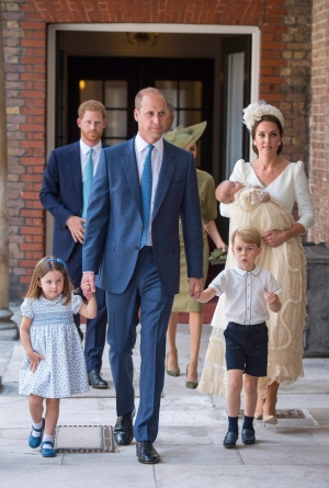 Members of Royal Family attend Prince Louis' chri