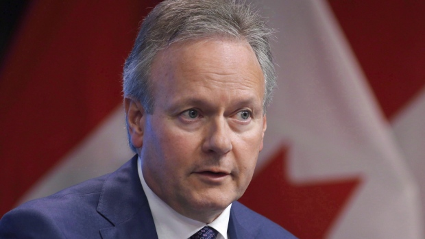 Bank of Canada Governor Stephen Poloz speaks at a press conference in Ottawa on Thursday