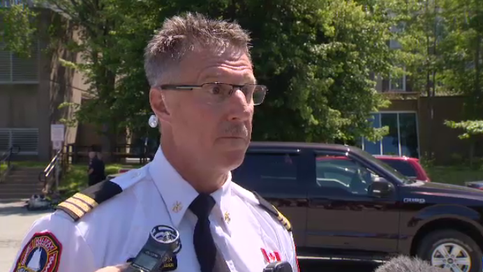 Halifax Fire Platoon Chief Mike Blackburn said the hazardous materials team had to find out which chemicals were spilled and and then research not only how they'd react by themselves, but how might react with one another.
