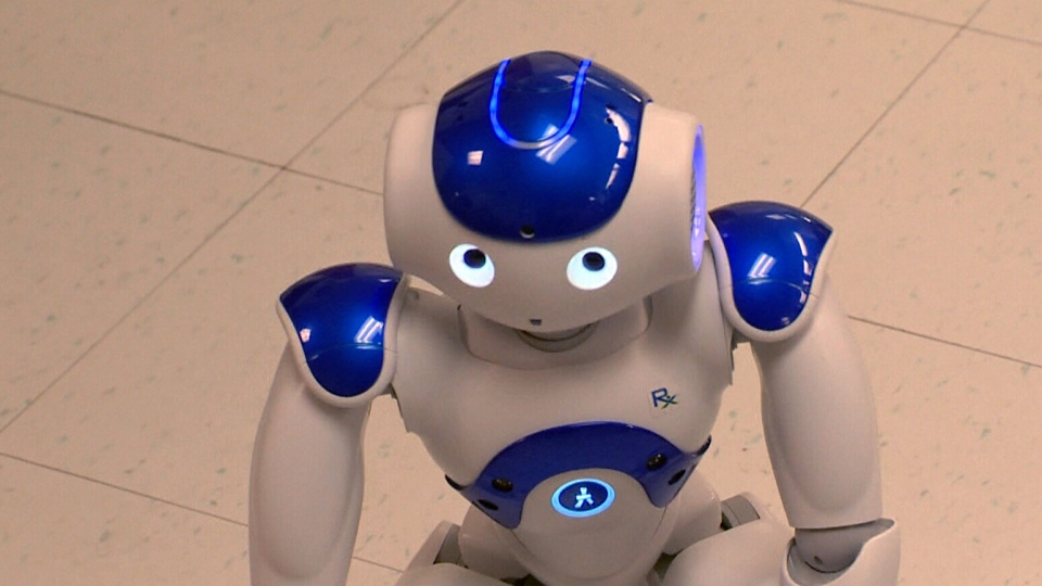 The robot was originally named NAO by creators SoftBank Robotics. (CTV)