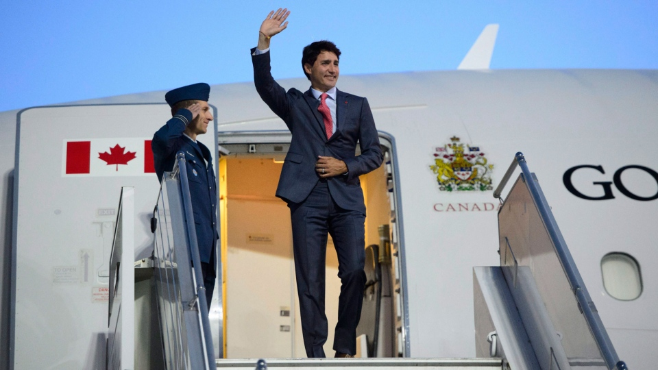 Prime Minister Justin Trudeau arrives in Riga, Latvia on Monday, July 9, 2018. THE CANADIAN PRESS/Sean Kilpatrick
