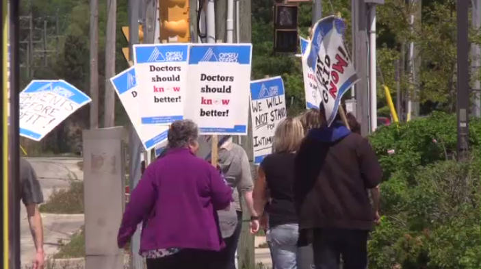 The health team wants to place restrictions what picketers can do and where they can protest.