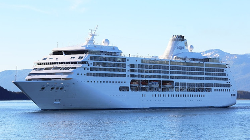The Seven Seas Mariner cruise ship is seen in this image from the Regent Seven Seas Cruises website. (www.rssc.com)