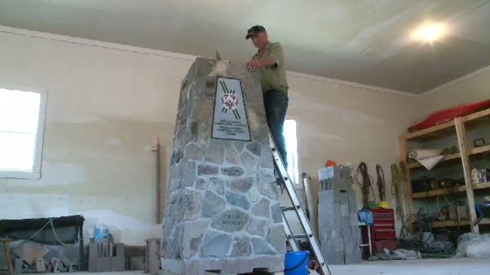 The Special Olympics Canada Summer Games cauldron will be placed atop this cairn, which features a rock from every Canadian province, territory, parliament, as well as one from each local First Nation.