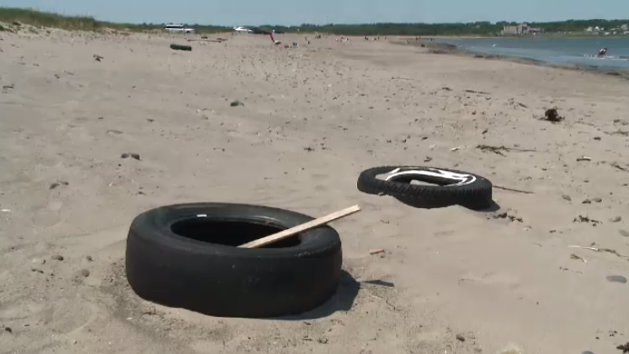 A recent clean-up of Big Glace Bay Beach found an alarming number of discarded tires.