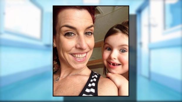 35-year-old Caroline Lalonde with daughter Malika.
