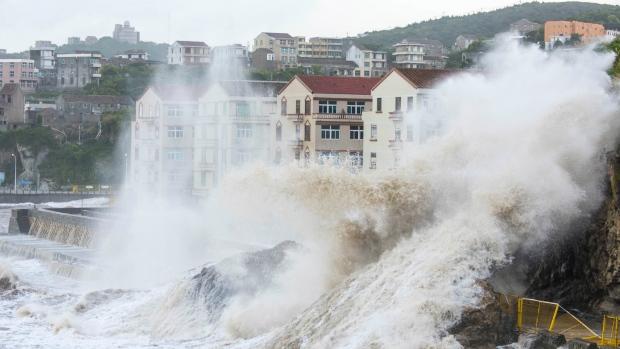 Typhoon hits China
