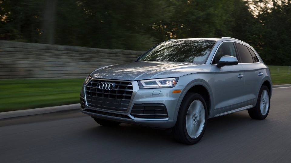 This undated photo provided by Audi shows the 2018 Audi Q5, a modern-looking luxury compact SUV with a starting price of $42,475, including the destination fee.(Courtesy of Audi AG via AP)