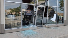 The aftermath of a smash and grab at PC Outfitters in Windsor on July 10, 2018. (Courtesy of PC Outfitters)