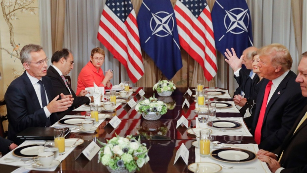 Trump continues attacks on North Atlantic Treaty Organisation  nations during 2nd day of summit