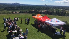 Beautiful day for a BBQ on Broadcast Hill!