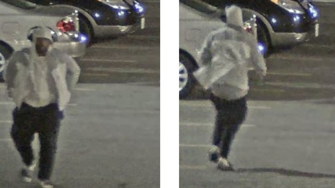 Security camera images show a suspect wanted in connection with the shooting death of 25-year-old Karim Hirani in North York. (Toronto police handout)