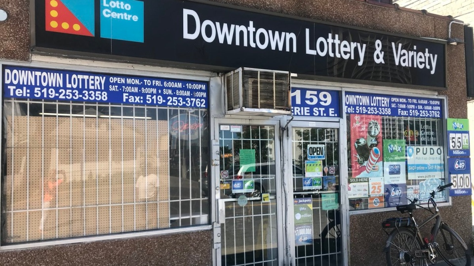 Downtown Lottery and Variety store, pictured here after a knifepoint robbery on July 7, 2018. (Alana Hadadean / CTV Windsor)