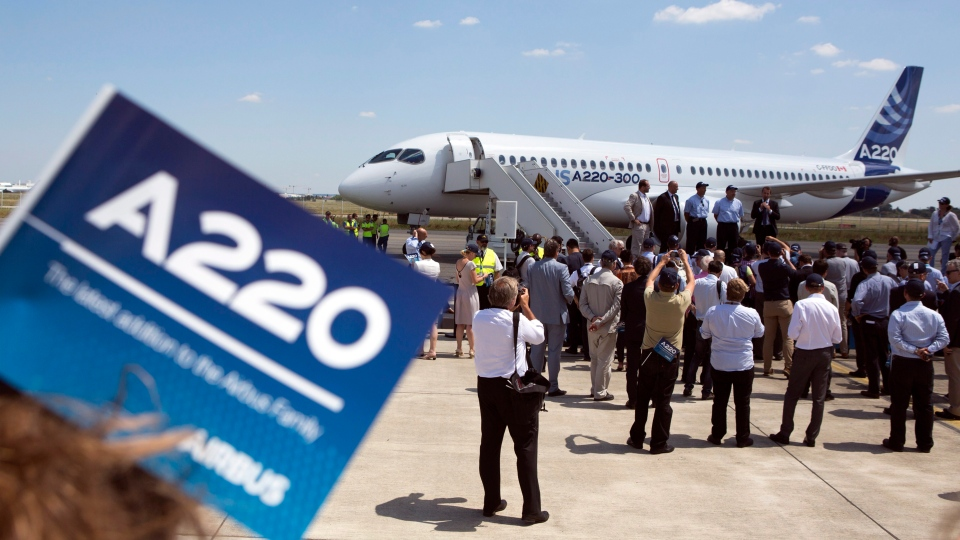 a new Airbus A220