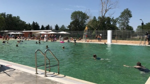 Borden Natural Swimming Pool opened on Wednesday, July 11, 2018.
