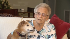 Mary johnston and her dog Maggie