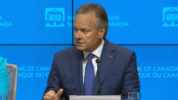 Bank of Canada governor Stephen Poloz speaks to media about the latest interest rate increase, Wednesday, July 11, 2018.