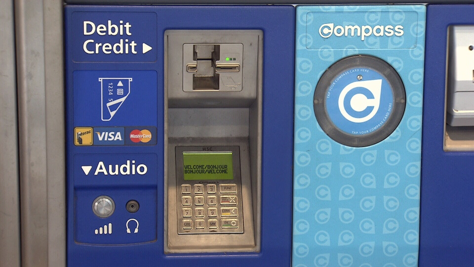 Devices used to steal bank card information were found at two stations on the Canada Line: YVR and Vancouver City Centre.